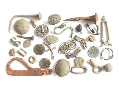 Lot of Misc. Ancient Bronze / Silver / Iron Artifacts