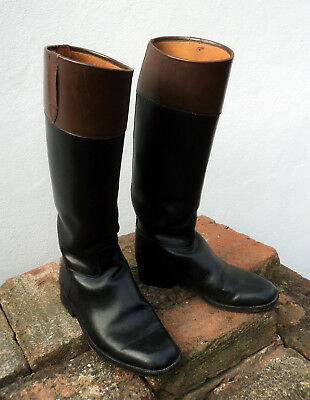 Stivali equitazione in pelle vintage horse riding leather boots nr. 37 * Cavalli