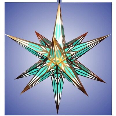 "Christmas Star for In/outside Multi color incl.Lighting 30"" German Handcraft"