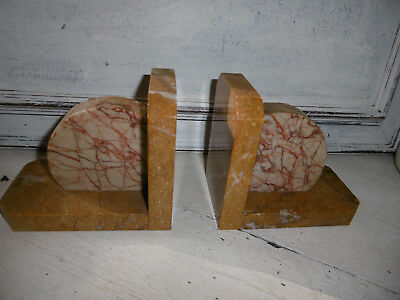 Art Deco marble bookends pair French desk ornaments very good condition