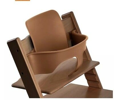 Stokke Tripp Trapp Baby Set Seat In Brown with Harness & Seat Cover V2-RRP £110