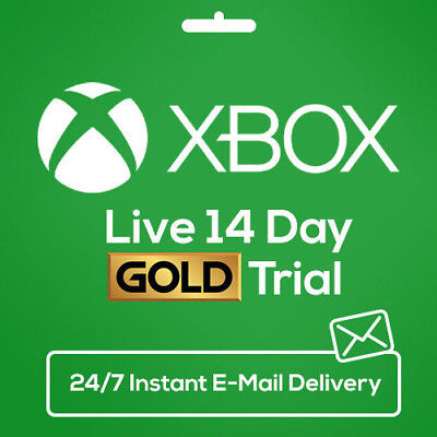 Xbox Live 14 Day (2 Weeks) Gold Edition Instant Delivery E-Mail Trial Code Games