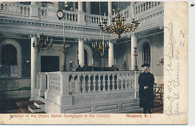 Interior of the Oldest Jewish Synagogue in the Country, Newport, RI