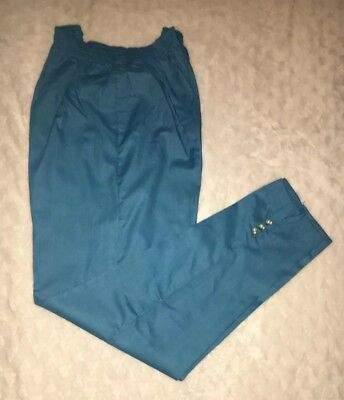 Pakistani/Indian Designer  Trouser/Cigarette style Pant Blue with Pearls