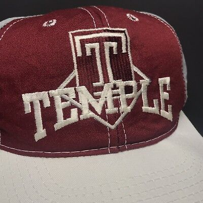 reputable site af9cf becd6 VINTAGE 90s Temple Owls Pinwheel Snapback NCAA College Nylon The Game VTG  USA