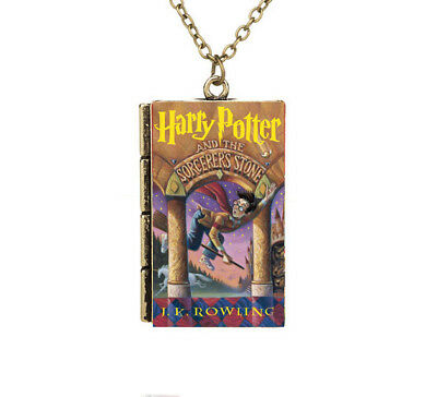 Miniature Harry Potter and the Sorcerer's Stone TINY Book Pendant Necklace