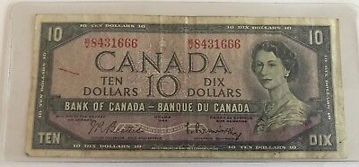 *** 1954 Bank of Canada $10 VF ***