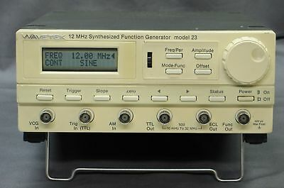 WAVETEK Model 23 12MHz Synthesized Function Generator w/ GPIB, tested good, xlnt