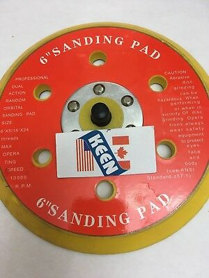 1- 6 Inch Diameter Sticky-Face Disc Pad Keen Abrasives 76054