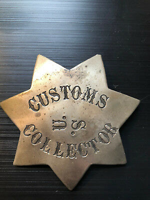obsolete police badge us Customs collector