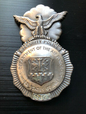police badge US Air Force Security Police