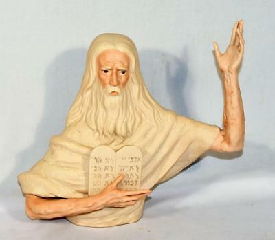 Vintage Laszlo Ispanky Moses/ten Commandments Le. 400 Porcelain Judaica Figurine