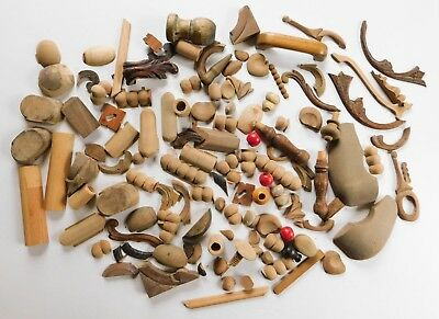 Vintage Antique Wood Salvage Mixed Lot Crafts Furniture Trims