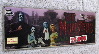 """Very Rare Small """"Munsters"""" IGT Slant Top Slot Machine Glass"""
