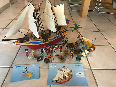 Großes Playmobil Piratenschiff 4290 + Pirateninsel 4139 + diverse Sets