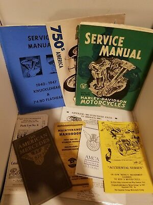 Old Handbook, Service Manual, Other Older Auto/Motorcycle related text, Harley