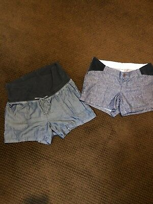 Maternity Shorts Lot Old Navy size small S/size 2 denim 2 Pairs