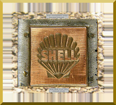 Shell Oil / Gasoline - Letterpress Printer's Block - Rare / Unusual Item.