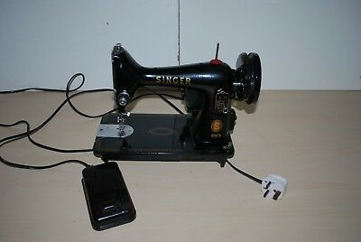 VINTAGE 1950's SINGER SEWING MACHINE 99K WITH ELECTRIC MOTOR WORKING