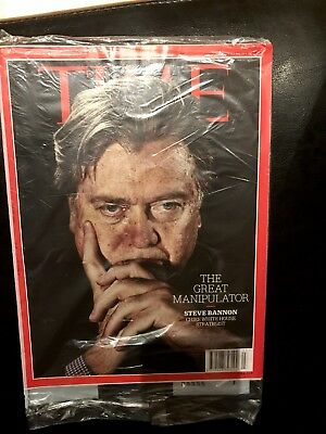 Rare TIME Magazine, Steve Bannon Great Manipulator,Trump,Federer,Reeves,2017 NEW
