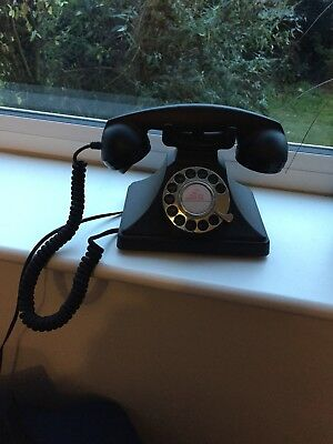 GPO 200 Classic Vintage Corded Telephone with Rotary Dial in Black