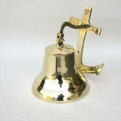 Hanging Ship Bell Solid Brass Wall Nautical Brass Anchor Door Bell Home Decor