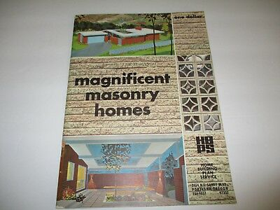 Magnificent Masonry Homes blueprint catalog - vintage construction 1965