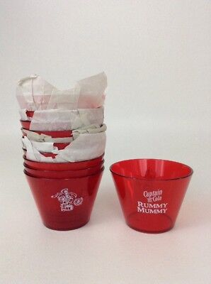 Set of 10 New Captain Morgan Captain and Cola Red Plastic Cups Rummy Mummy Promo