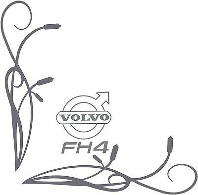 Volvo Fh4 Style Truck Side Window Stickers Decals Graphics X2