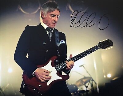 Picture Signed By Paul Weller The Jam 1