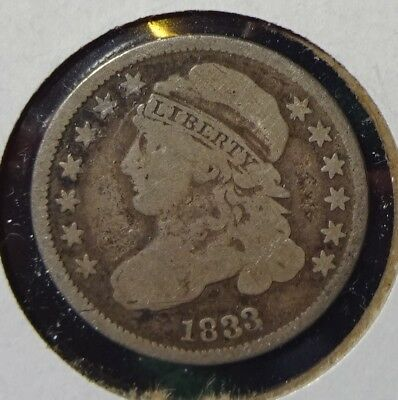 1833 High 3 Capped Bust Dime