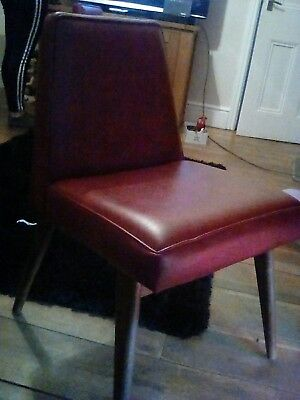 Retro Very Stylish Vintage Mid Century Solid  Chair