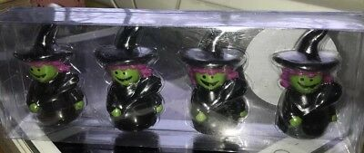 Halloween Figural Witch Candles Set Of 4 Nib