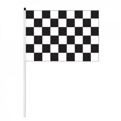 "Whip-It Flags Specialty Flag - 3'x5' - 1/2"" x 6' Pole Black Check Flag"