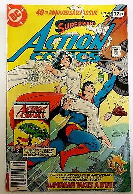 ACTION COMICS 484. FN. 1978. SUPERMAN TAKES A WIFE. 40th ANNIVERSARY ISSUE