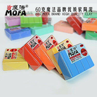 41 COLORS 60g POLYMER MODELLING - MOULDING OVEN BAKE CLAY PASTEL &