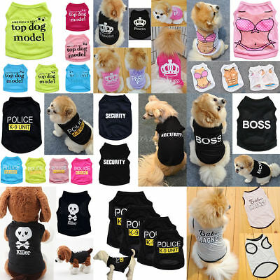 Summer  Pet Clothes Puppy Small Dog Cat Pet Vest T-Shirt Coat Costume Apparel
