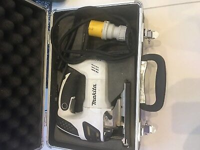 Makita Jigsaw 110V 4350FCT Corded Jigsaw Power Tool Limited Edition White & Case