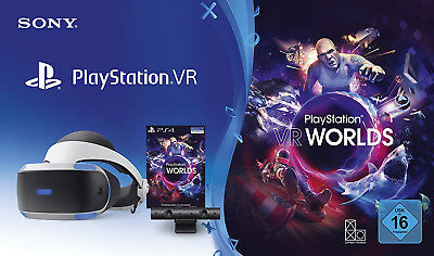 PlayStation 4 Virtual Reality + Camera + VR Worlds Voucher PS4 Brille