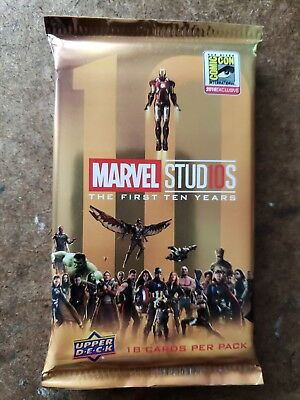 Marvel Studios First 10 Years SDCC Pack Upper Deck set MCU