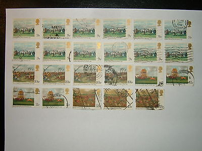1979 HORSE RACING PAINTINGS STAMPS x 23 (sg1087-90) VFU