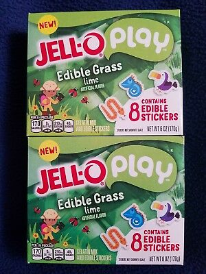 Jello Pay Edible Grass Lime Lot of 2