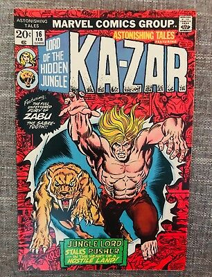 Astonishing Tales Featuring Ka-Zar #16 (Feb 1972 - 1973, Marvel) Great! 02488