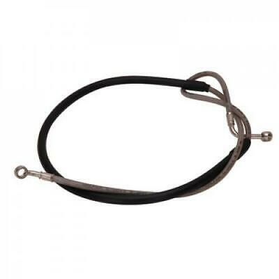 Black Hose /& Stainless Red Banjos Pro Braking PBC1164-BLK-RED Braided Clutch Line
