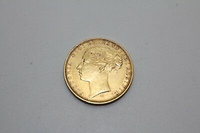 1879 22k Gold Full Sovereign Victoria Young Head St George 7.9g Coin (4508)