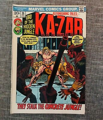 Astonishing Tales Featuring Ka-Zar #15 (Dec 1972, Marvel) Great Comic! 02488