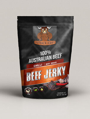 Beef Jerky Chilli 500G Bulk Health Food Hi Protein Low Carb Preservative Free