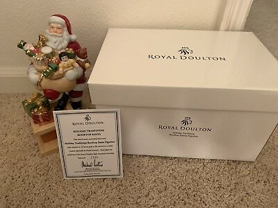 Royal Doulton - HN4714 Rooftop Santa - 2004 #1733 Excellent Condition In Box