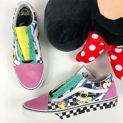 2a0662217c34dc VANS X DISNEY Mens 9.5 Womans 11 Mickey Minnie Retro Old Skool Shoes ...