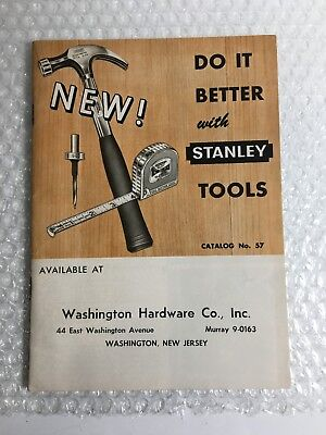 Vintage Stanley Tool Catalog No. 57  © 1956  With Prices at the Time